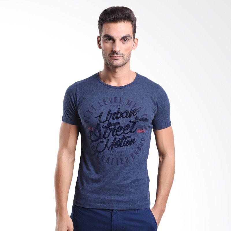 Cressida Urban Sreet Motion Navy 125G189 N T-Shirt Pria