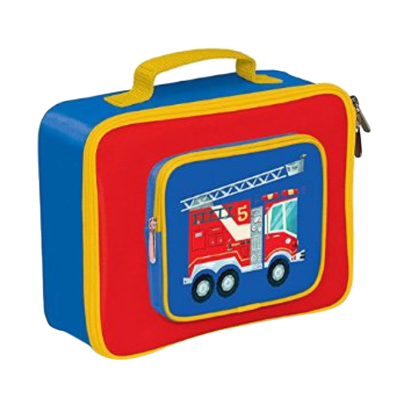 Crocodile Creek Lunch Box Fire Truck - Blue Red