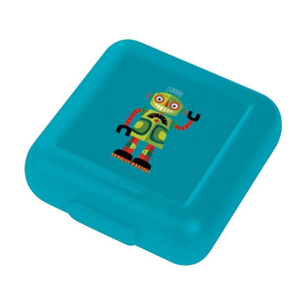 Crocodile Creek Sandwich Keeper Robot Kotak Makan - Dark Green