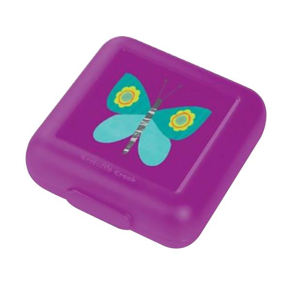 Crocodile Creek Sandwich Keeper Butterfly Kotak Makan - Purple