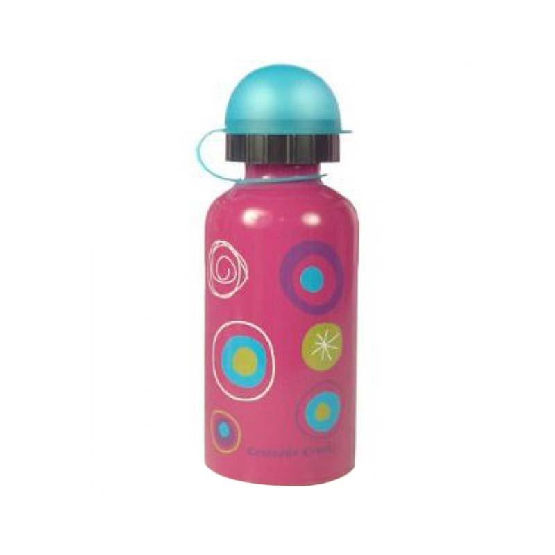 Crocodile Creek Stainless Steel Bottle Colorama Botol Minum - Pink [400 mL]