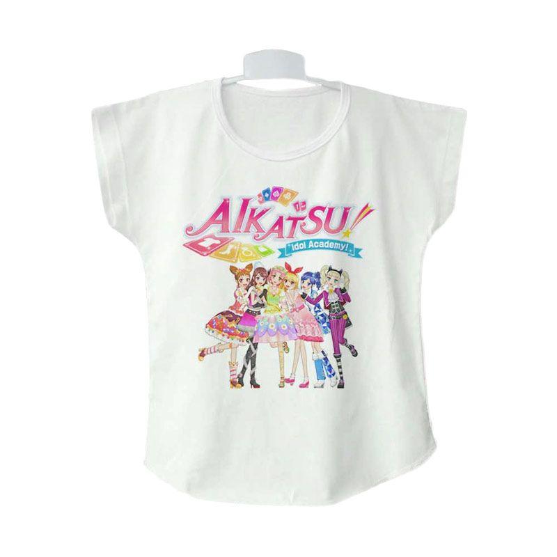 AIKATSU Full Idol 01 White Atasan Anak Perempuan