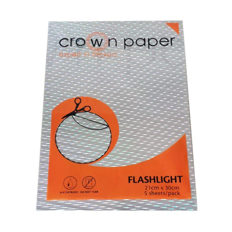 Crown Paper Hologram Flashlight Sticker Paper