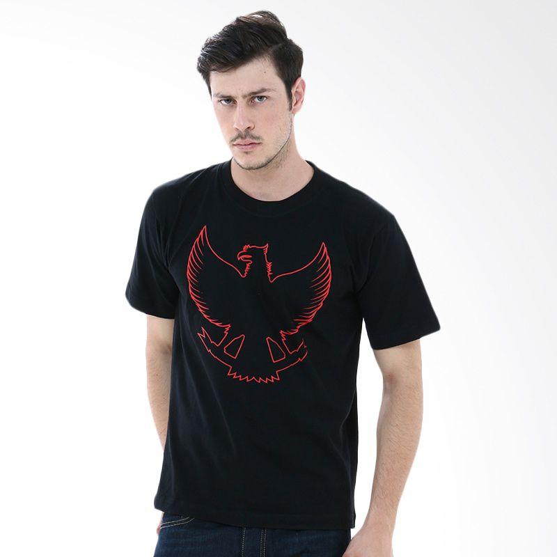 Crows Denim FMS INA-03 Black Kaos Pria