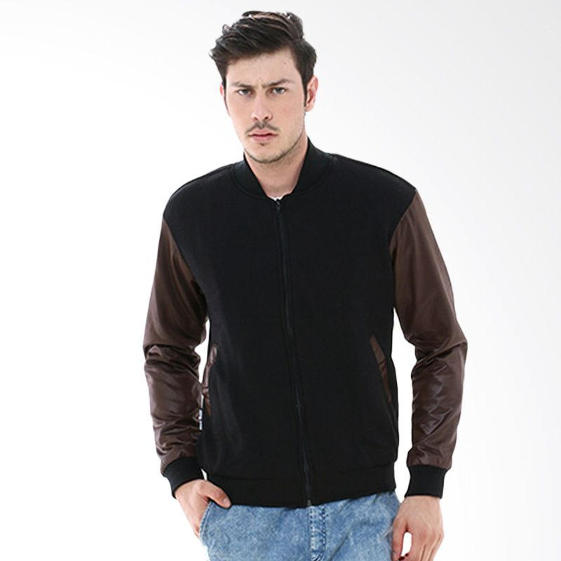 Crows Denim SK48 Black Brown Jaket Pria