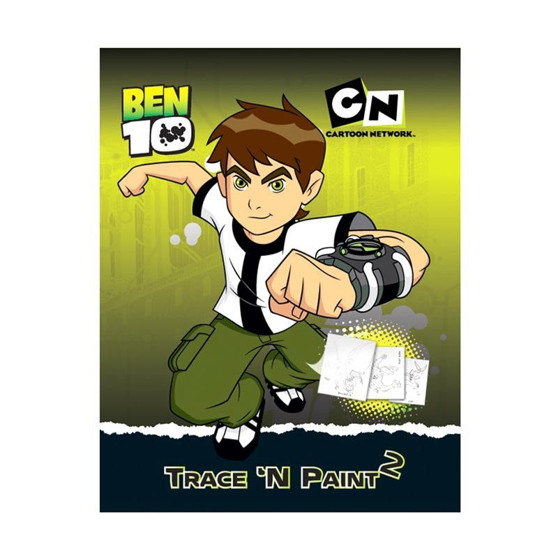 Cartoon Network Ben 10 Trace 'N Paint Vol.02 Buku Anak