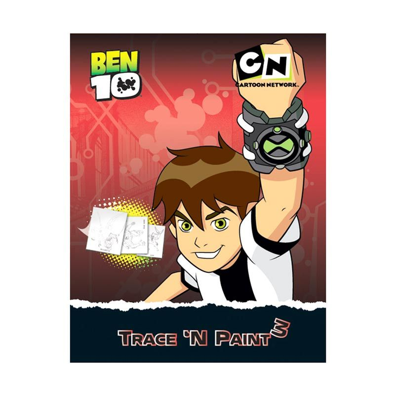 Cartoon Network Ben 10 Trace 'N Paint Vol.03 Buku Anak