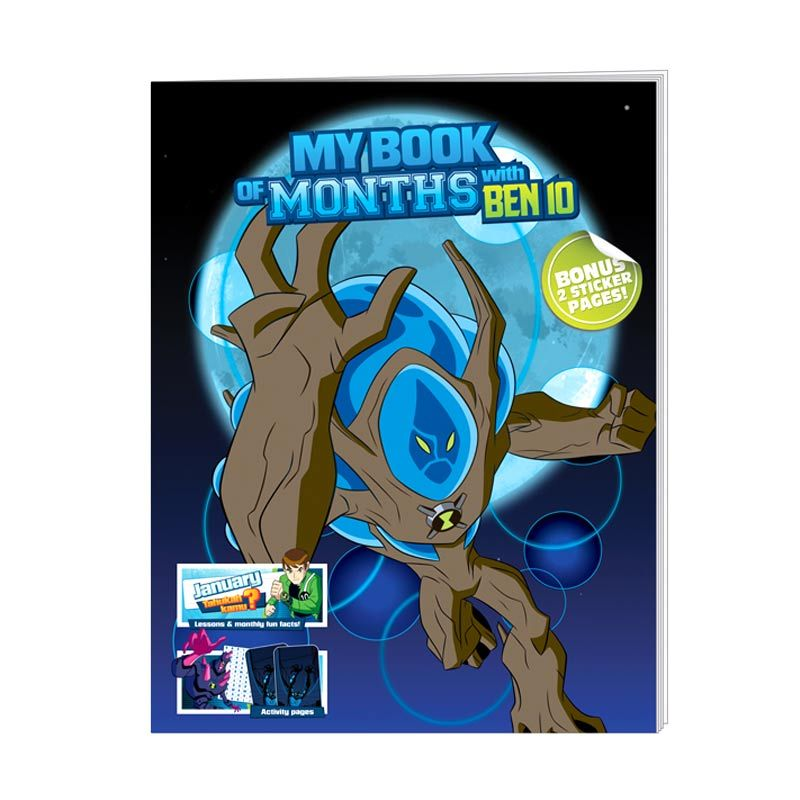 Cartoon Network Ben 10 Ultimate Alien My Book of Months with Ben 10 Buku Anak