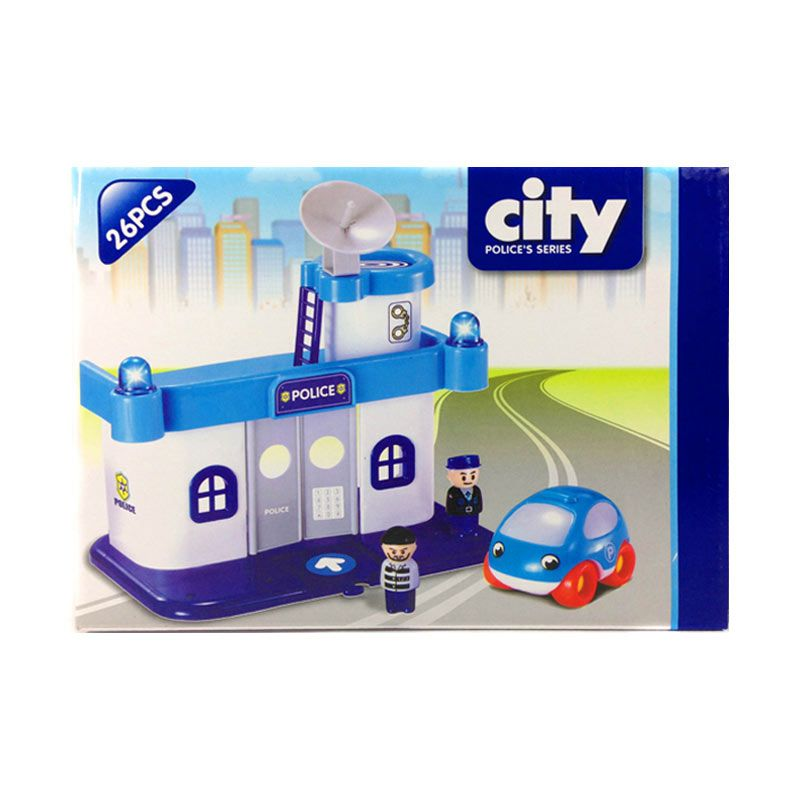 Happy Toon Race Track Police Series 01 Mainan Anak