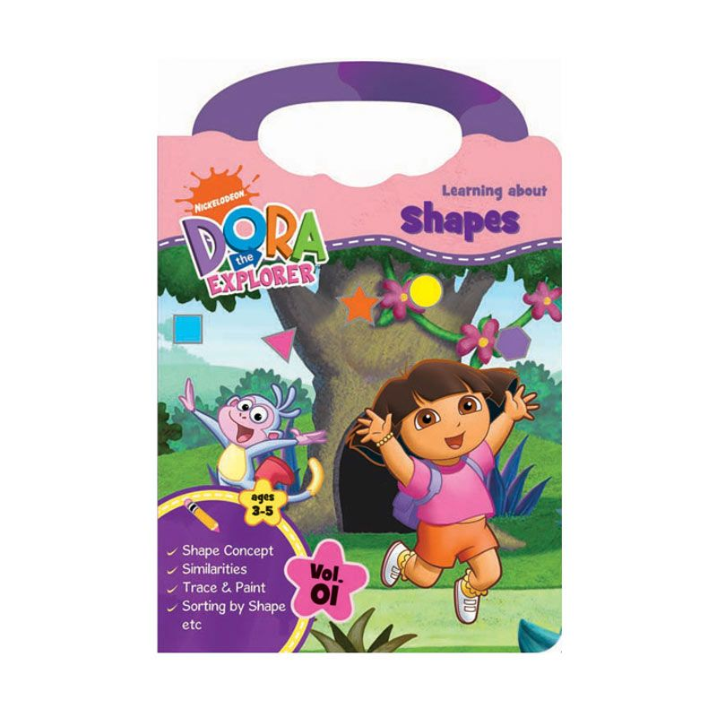 Nickelodeon Dora Activity Book Learning Shape Buku Anak