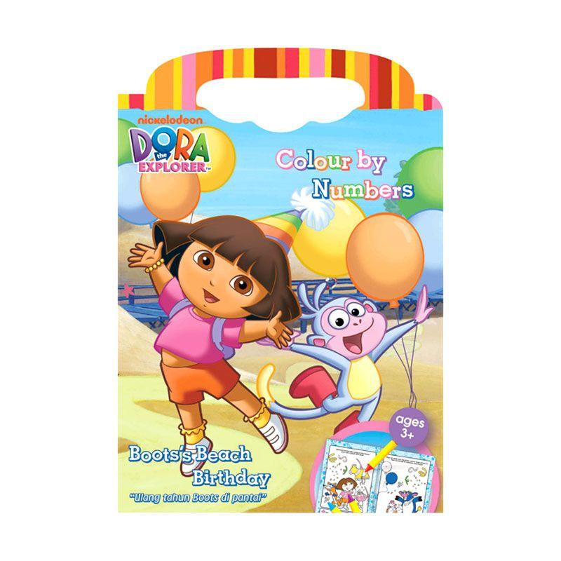 Nickelodeon Dora Color By Number Buku Anak