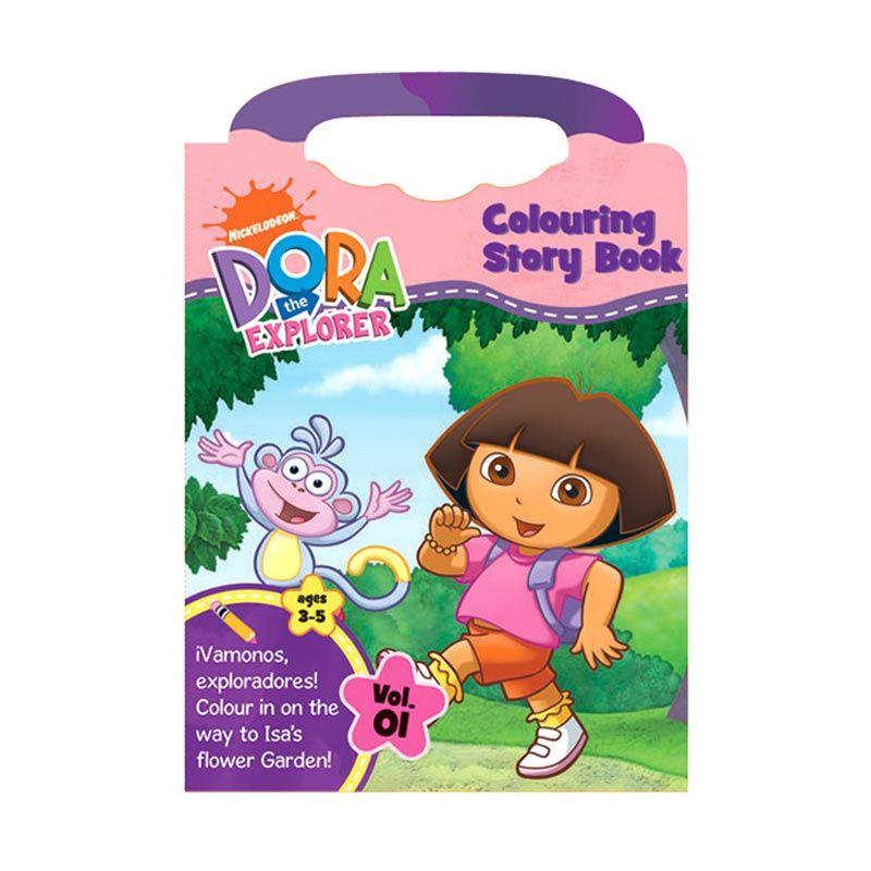 Nickelodeon Dora Coloring Story Buku Anak