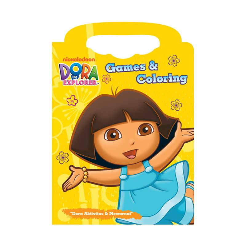 Nickelodeon Dora Games Coloring Buku Anak