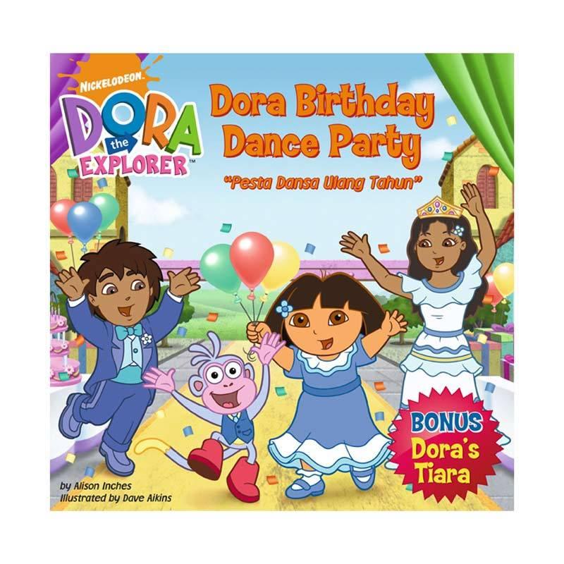 Nickelodeon Dora Story Book Birthday Dance Party Buku Anak