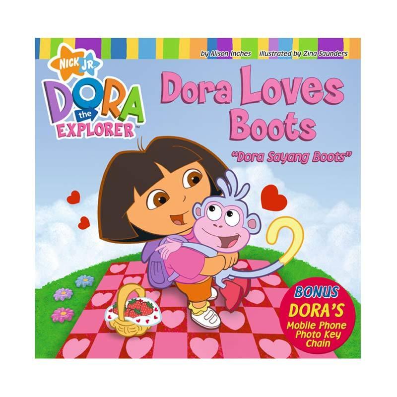 Nickelodeon Dora Story Book Dora Loves Boots Buku Anak