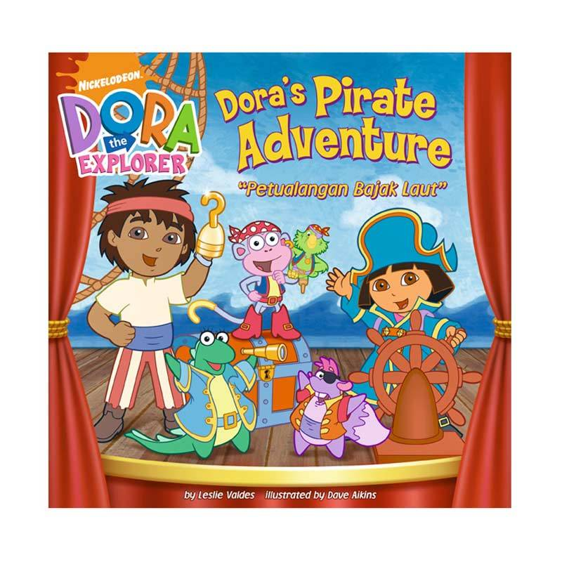 Nickelodeon Dora Story Book Pirate Adventure Buku Anak
