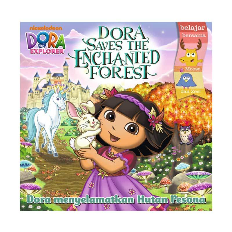 Nickelodeon Dora Story Book Saves The Enchanted Forest Buku Anak
