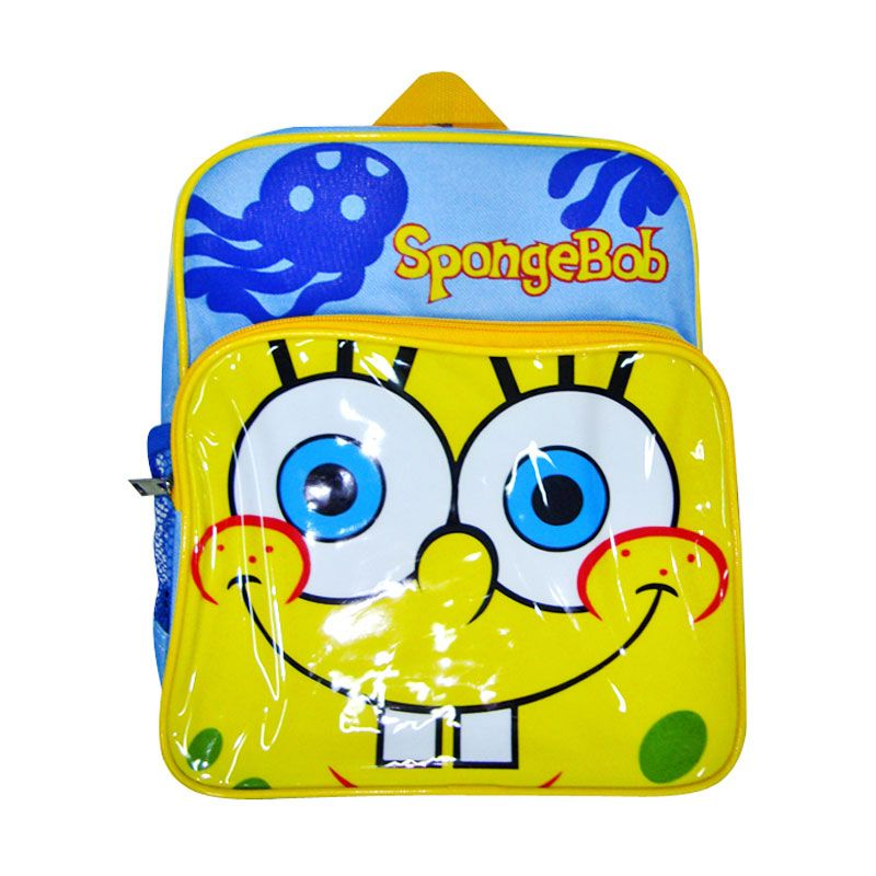 Nickelodeon Spongebob Bag 10 inch Blue Tas Sekolah