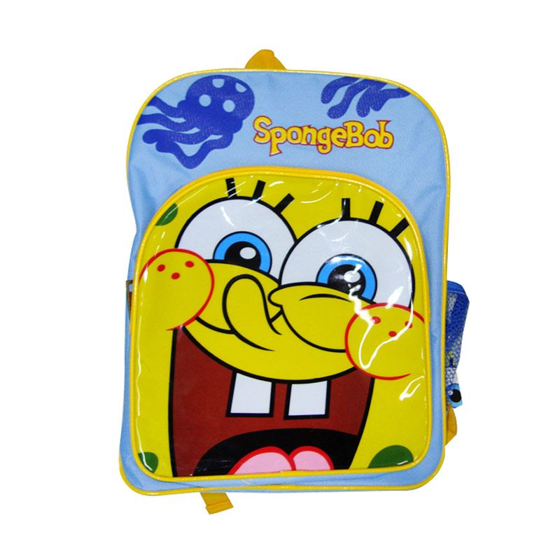 Nickelodeon Spongebob Bag 14 inch Blue Tas Sekolah