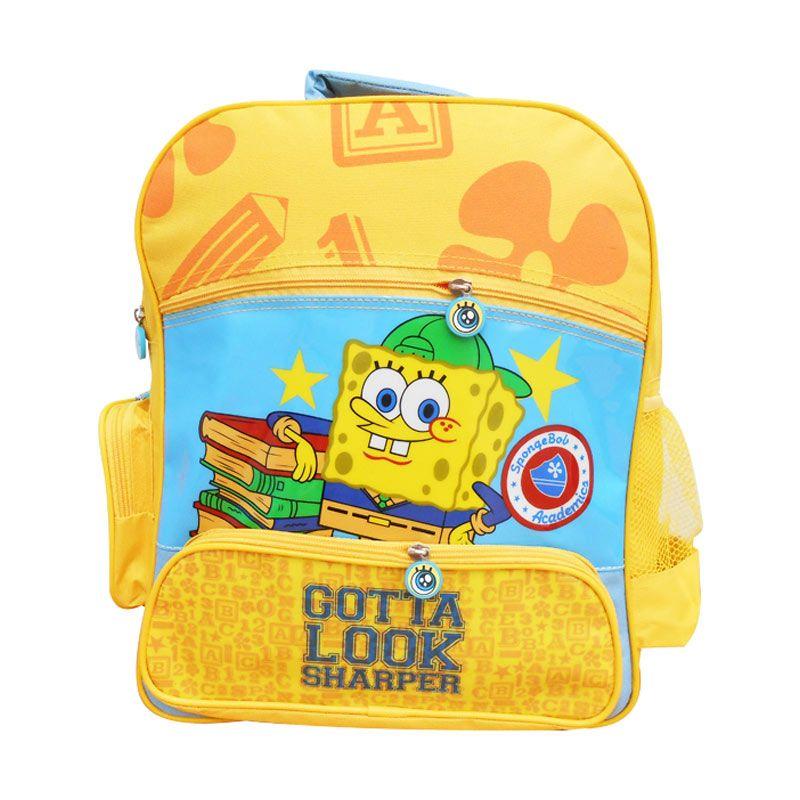 Nickelodeon Spongebob Bag 14 inch Tas Sekolah