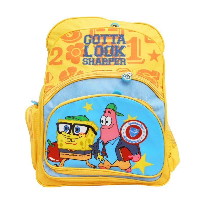 Nickelodeon Spongebob Bag 16 inch Tas Sekolah
