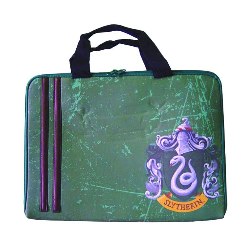 Warner Bros Harry Potter Laptop Sleeve Slytherin Hijau Tas Anak