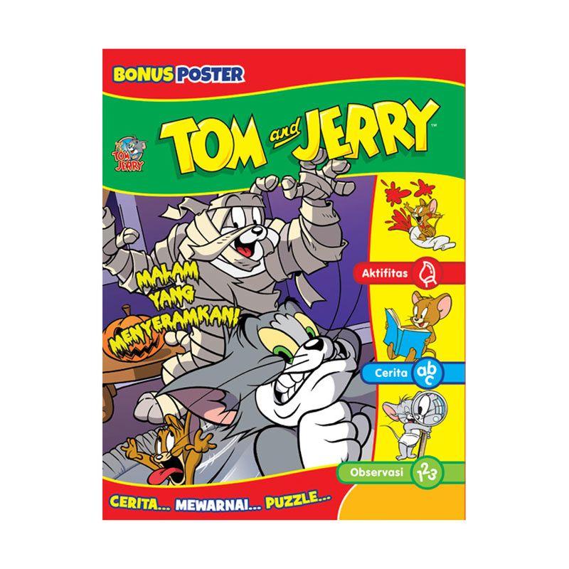 Warner Bros Tom and Jerry Buku Aktivitas Malam yang Menyeramkan Buku Anak