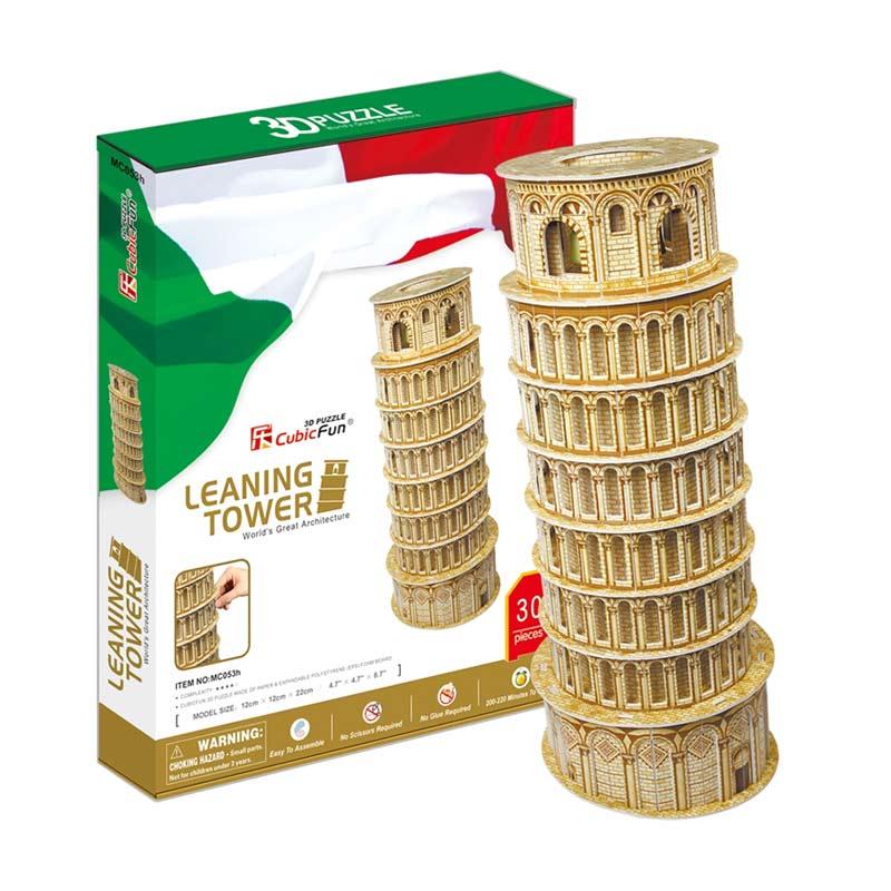 harga Cubic Fun Leaning Tower of Pisa Mainan Puzzle 3D (MC053h) Blibli.com