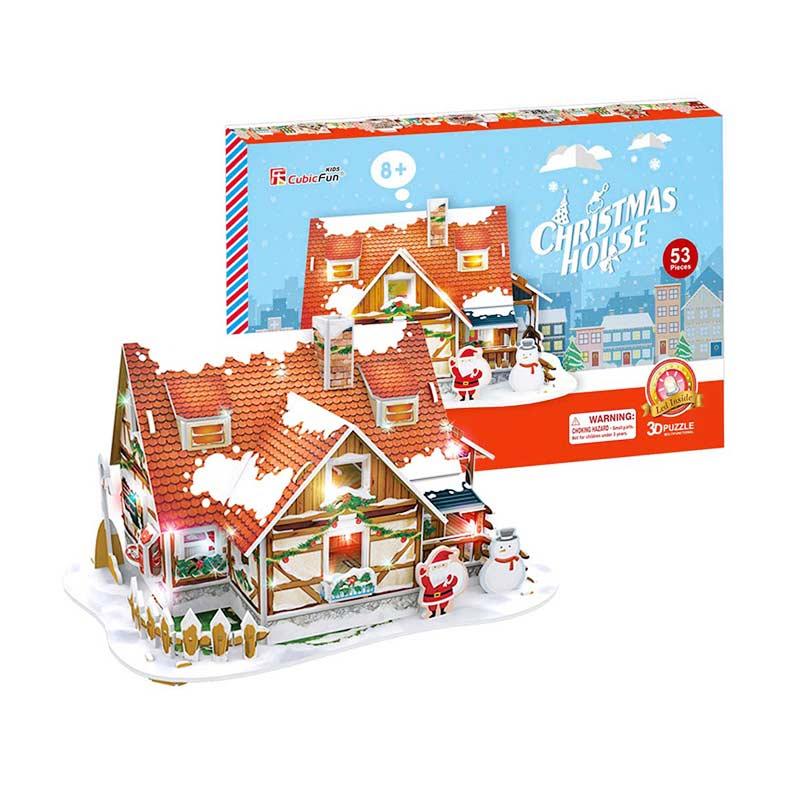 Cubicfun P647h Christmas House Mainan Puzzle