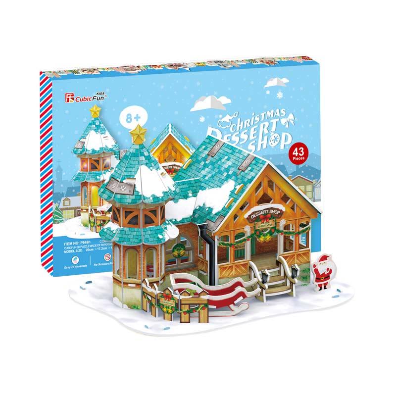 CubicFun P649h Christmas Dessert Shop Mainan Puzzle