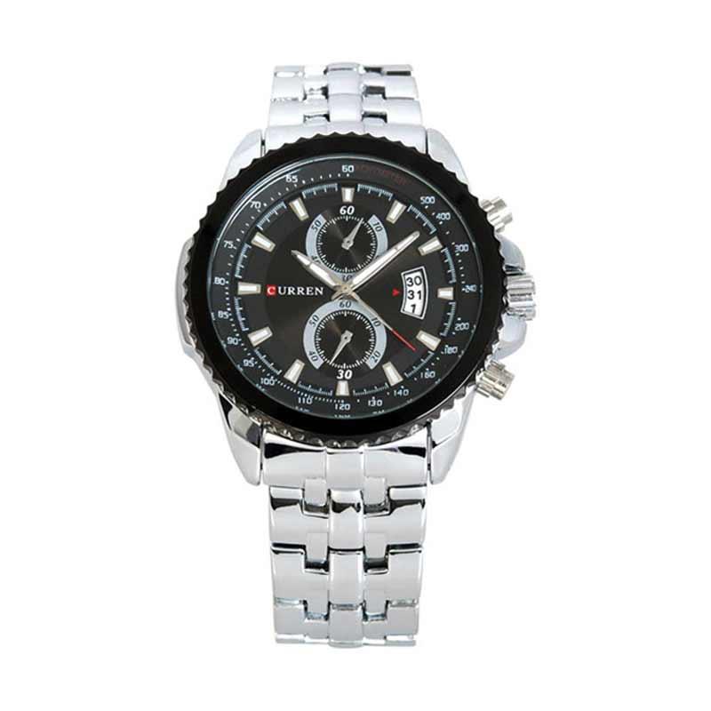 Curren Luxury Steel Watch Jam Tangan Pria - Silver