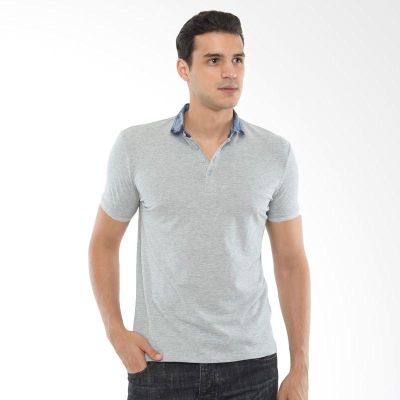 CVNL Slim Fit Denim Collar Abu-Abu Kaos Polo Extra diskon 7% setiap hari Extra diskon 5% setiap hari Citibank – lebih hemat 10%