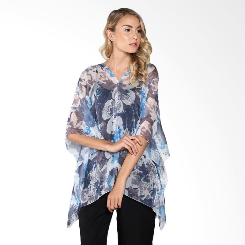 Cynara Studio BBG013G Blouse - Blue Grey