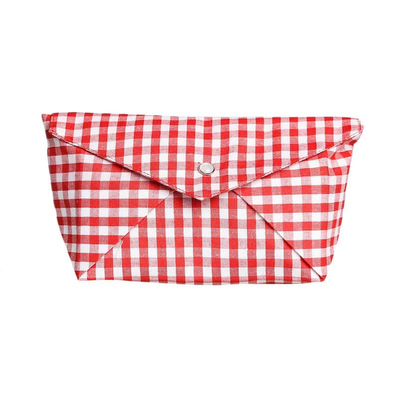 Cynara Studio Boat Pouch DB Kotak ME/PU Dompet - Red White