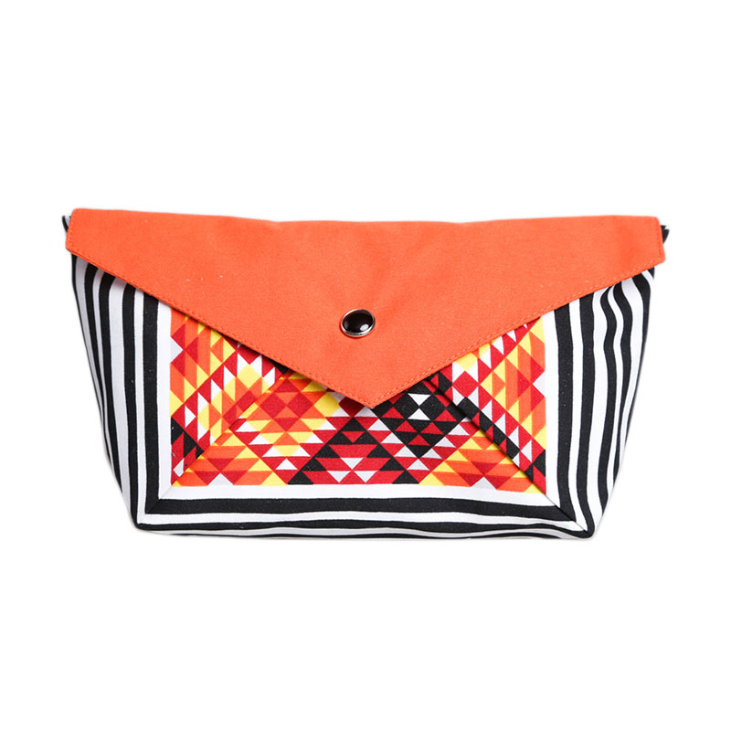 Cynara Studio Tribal Boat Pouch DB Tribal Dompet - Orange