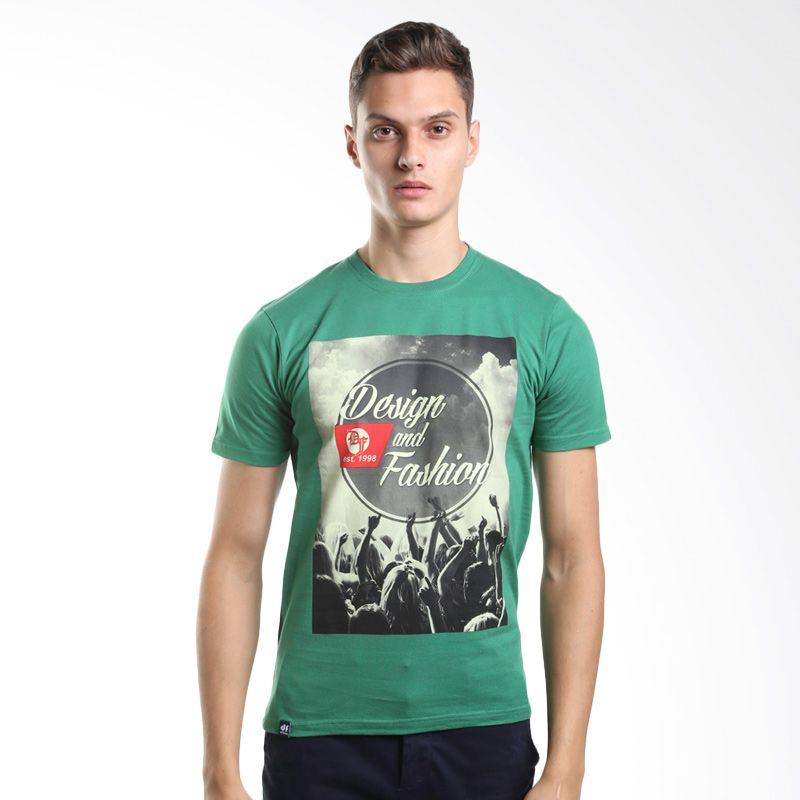 D&F Design Est 1998 3125910 Green T-Shirt Kaos Pria