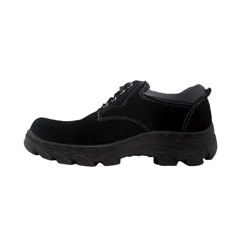 D-Island Shoes Cut Engineer Safety Luxury Hitam Low Boots