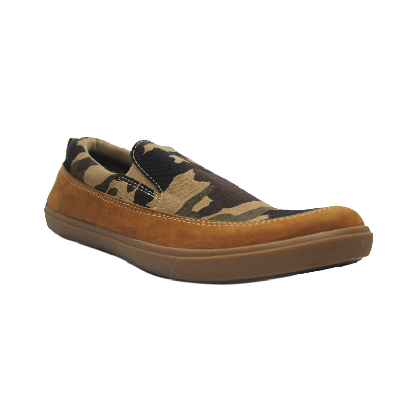 D-Island Shoes Kets Slip On Board Army Suede Sepatu Pria - Brown