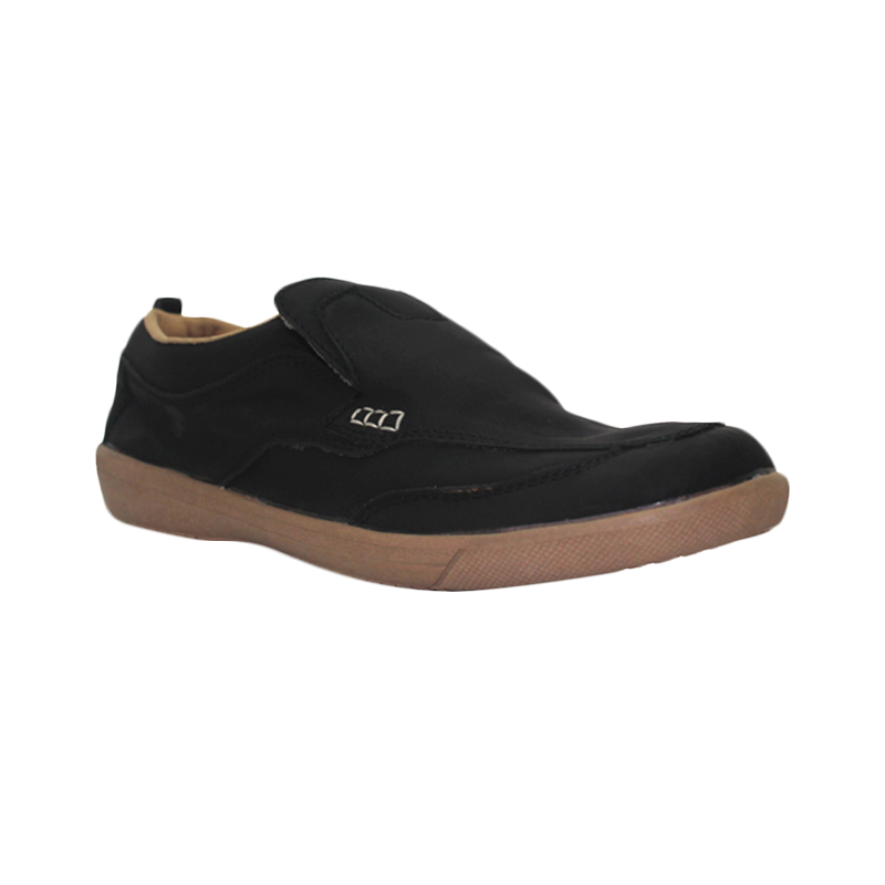 D-Island Shoes Slip On Reborn Special Leather Sepatu Pria - Black