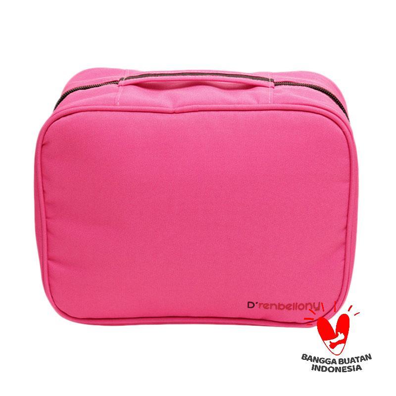harga D'renbellony Cosmetic Bag Organizer - Magenta | Tempat kosmetik | Tas make up | Beauty Case Blibli.com
