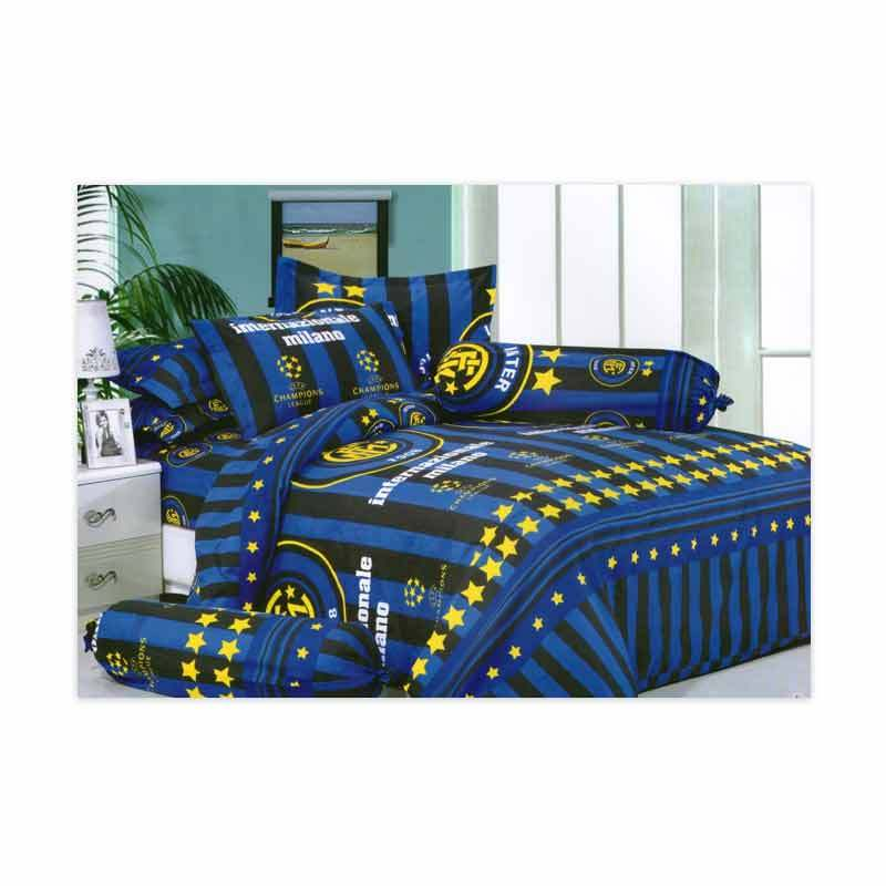 KELILAH Bed Cover (Single Size) - Inter Milan Dark Blue