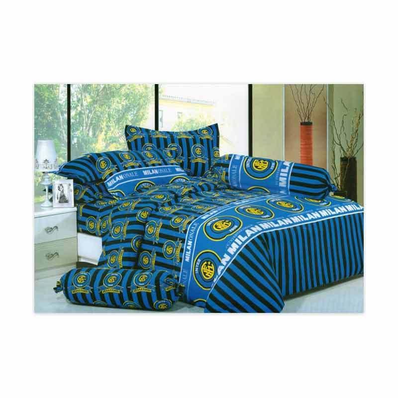 KELILAH Bed Cover (Single Size) - Inter Milan Blue