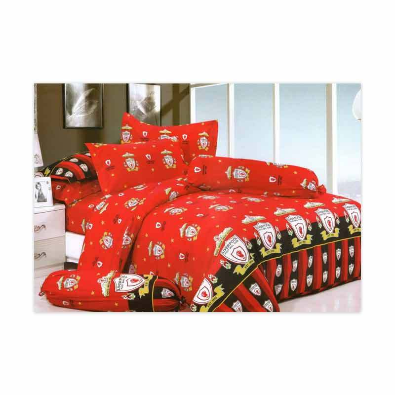 KELILAH Bed Cover (Single Size) - Liverpool Dark Red