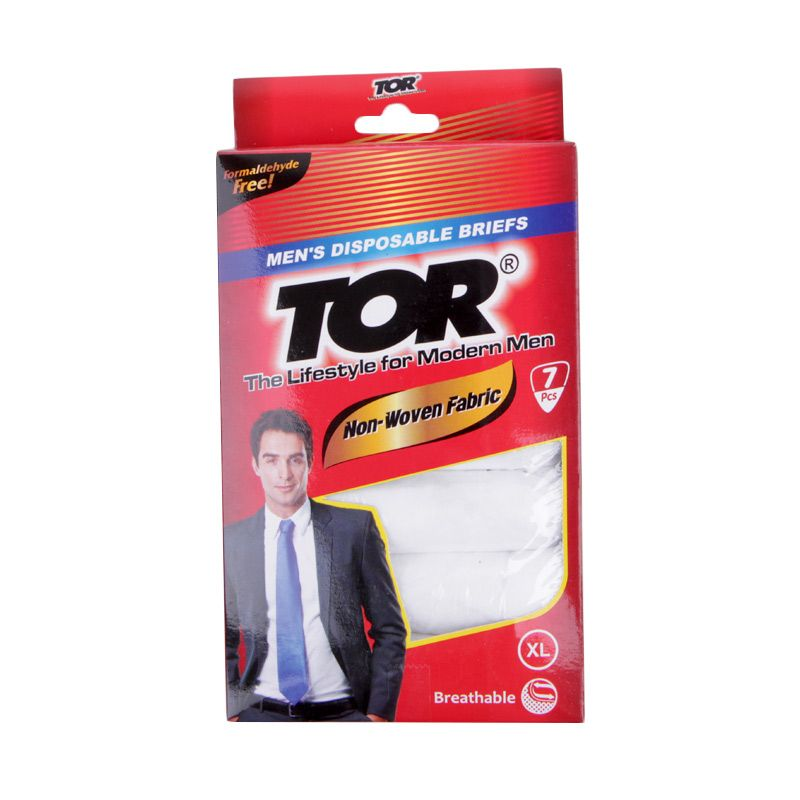 TOR Disposable Putih Pakaian Dalam Pria - M