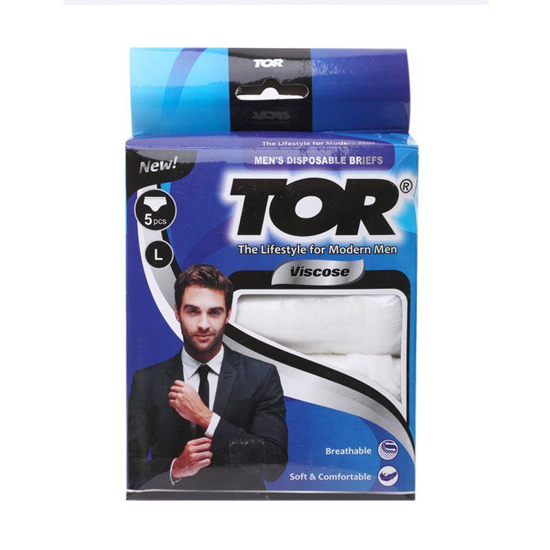 TOR Disposable Viscose Mans Putih Pakaian Dalam Pria