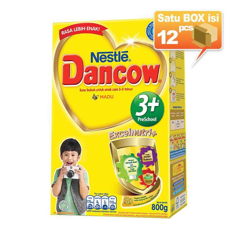Dancow 3+ Madu Susu Formula 800gr [12 pcs/karton]