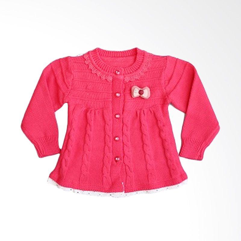 Dandelion Lil Embro Hot Pink Cardigan Anak