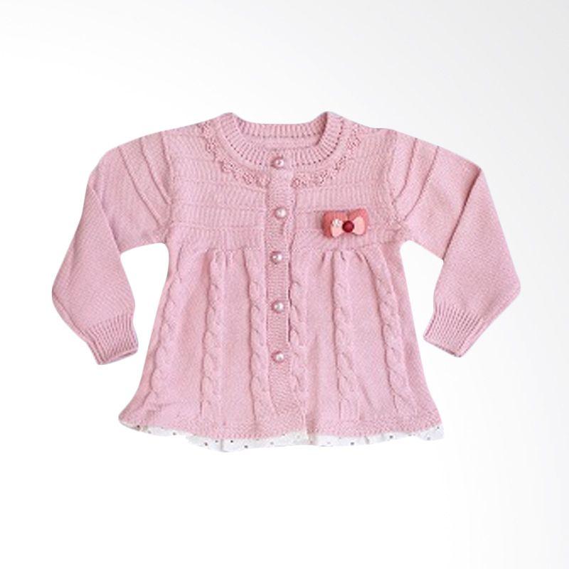 Dandelion Lil Embro Pink Cardigan Anak