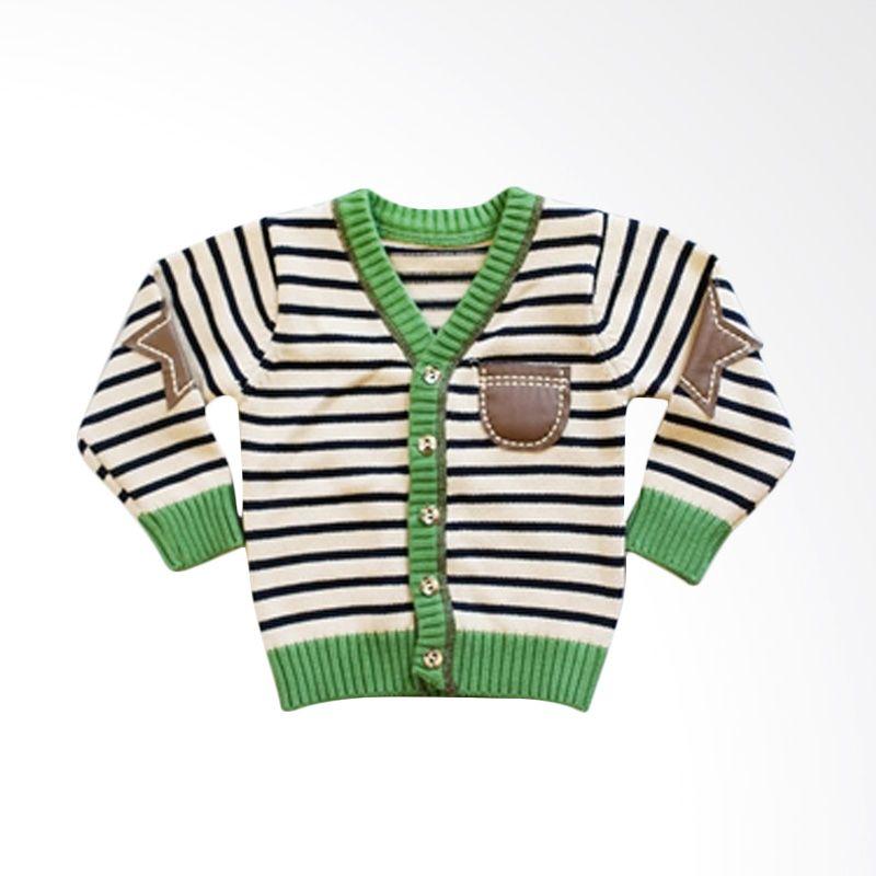 Dandelion Stripes Green Cardigan Anak