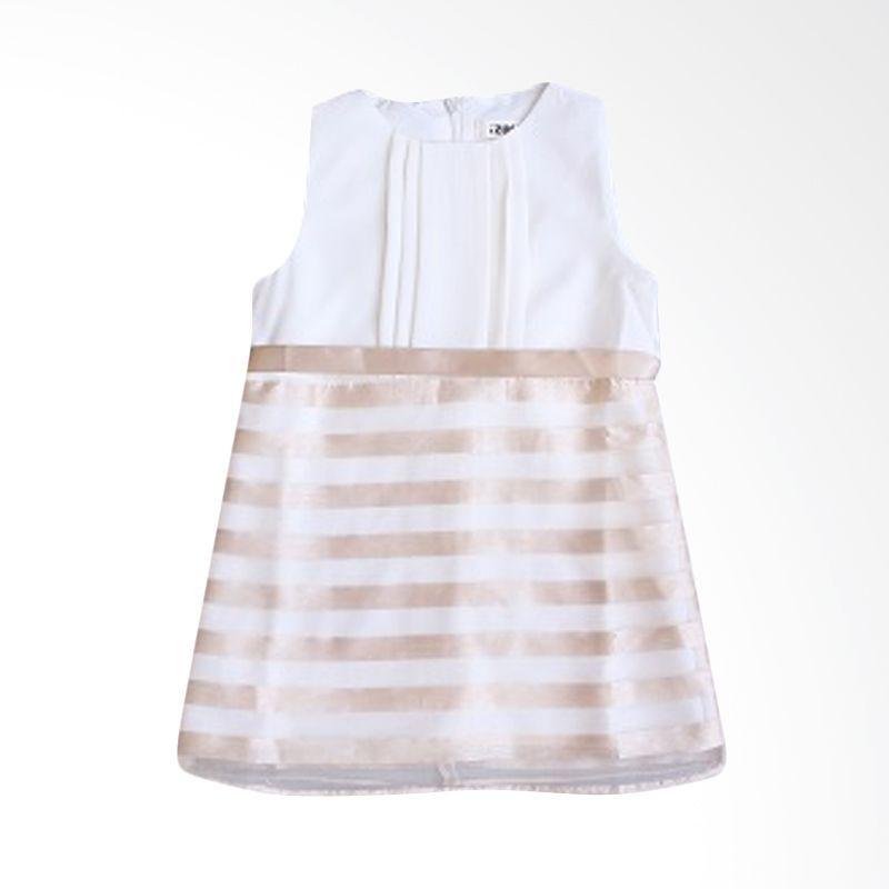 Dandelion Stripes White Dress Anak